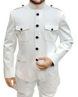 White Jodhpuri Huntting Jacket