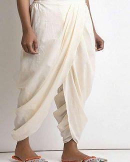 White Dhoti Free Size