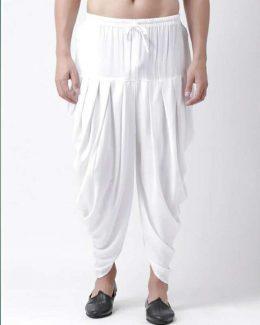 Cotton White Dhoti Free Size