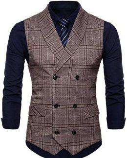 Men's Design V-Neck Slim Fit Collar Jacket