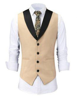 Men's Design Slim Fit Jacket+Shirt