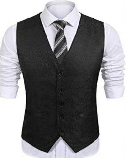 Men's Design V-Neck Slim Fit Jacket
