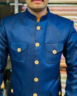Blue Hunting Jodhpuri  Jacket