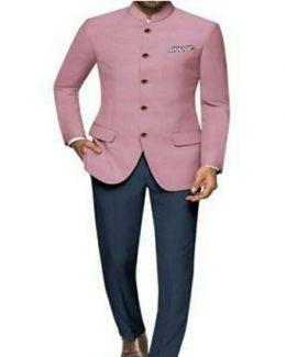 Best Pink Color Jodhpuri Suit