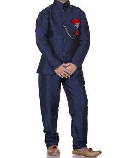 Kid's Solid Color Jodhpuri Suit