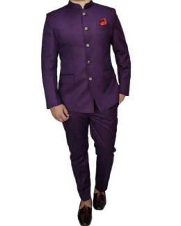 Best Violet Color Jodhpuri Suit