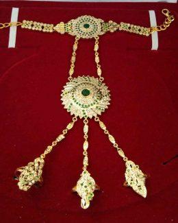 3 Rings Rajputi  Jadai Hathfull