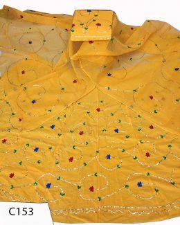 Cotton Suit Single  Colour  Odhana ( Full jaal Work  )