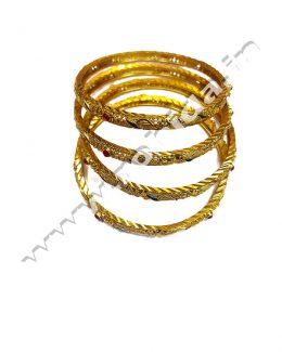 Beautiful Rajasthani Gold Plated Char Chudi Set