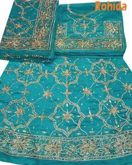 colour poshak saatan and pyor odhna with goota and taari hand work