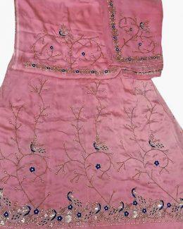 light pink poshak beember saatan jardoji and salma hand work