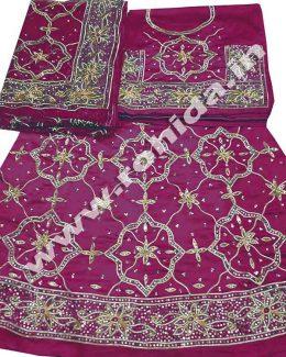 raani colour poshak saatan and pyor odhna with goota and taari hand work