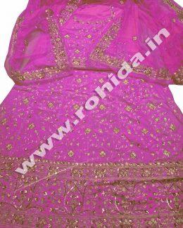 Baby Pink  Green colour aari taari jarri work thakurji pyor odhna