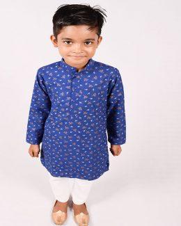 Best Colour Chhota Banna sa Print Kurta with  Pajama